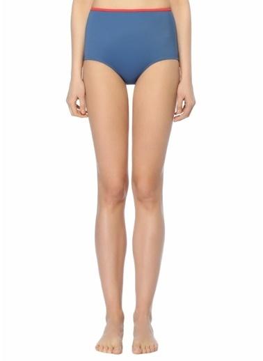Solid & Stripe Bikini Alt Mavi